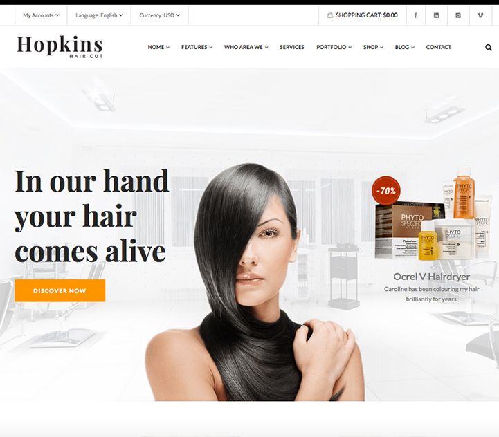 websites for hair salons