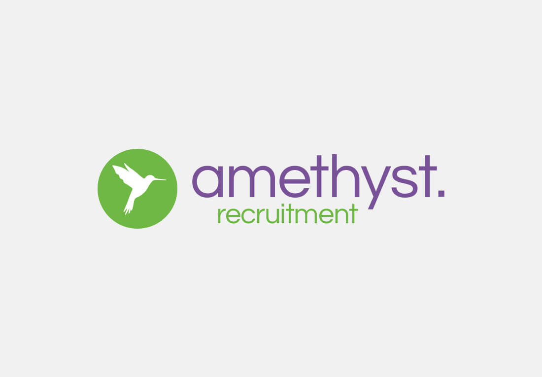 Branding Logo Design Amethyst Recruitment