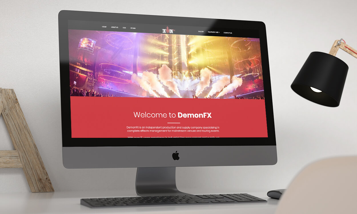 Website Design on Desktop