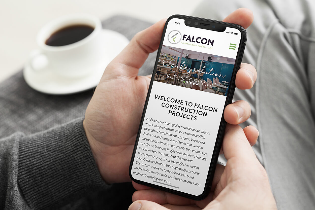 Website Design on iPhone