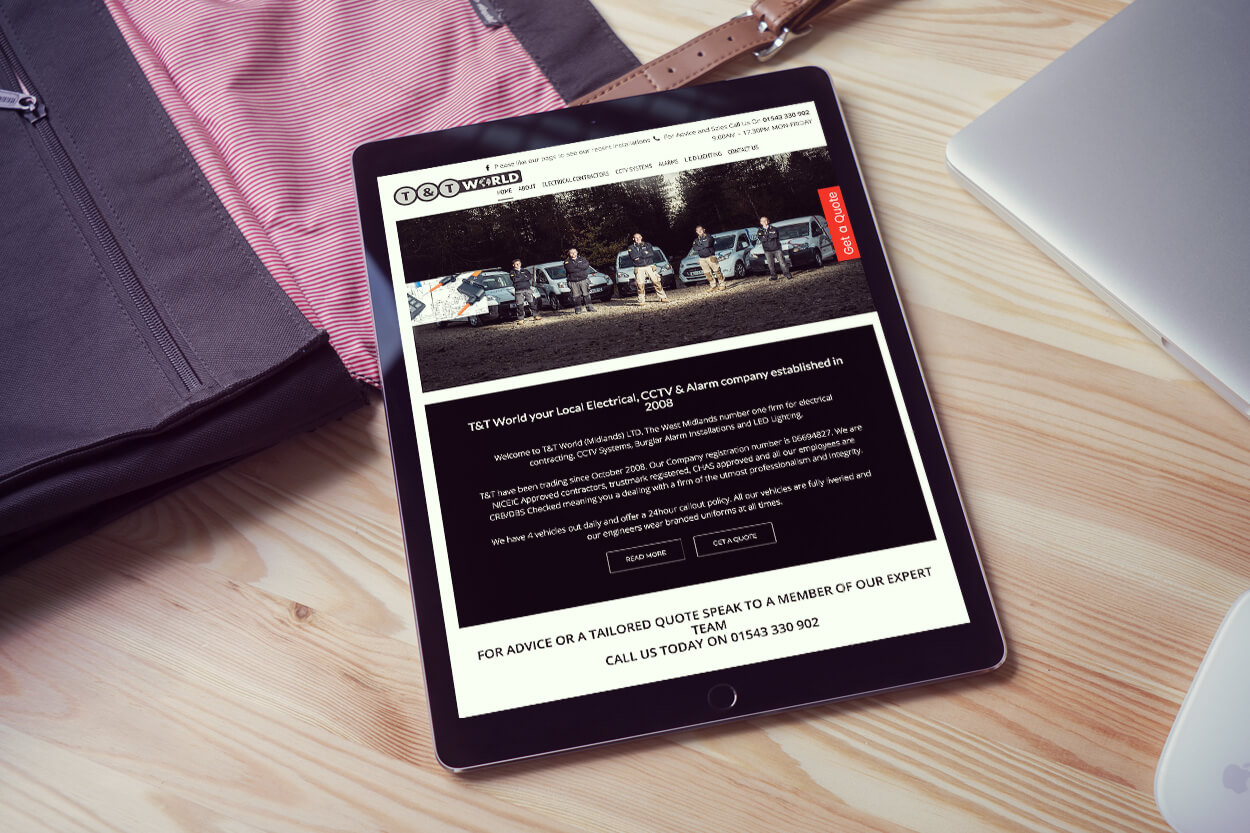 Website Design on iPad