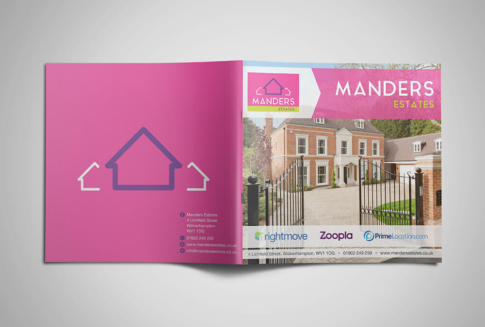 Brochure Print Manders Estates